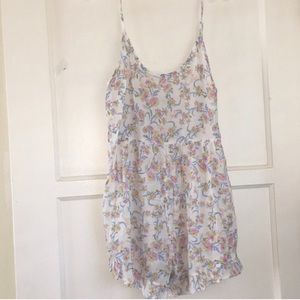 Free People Purple and White Flower Romper Size XS